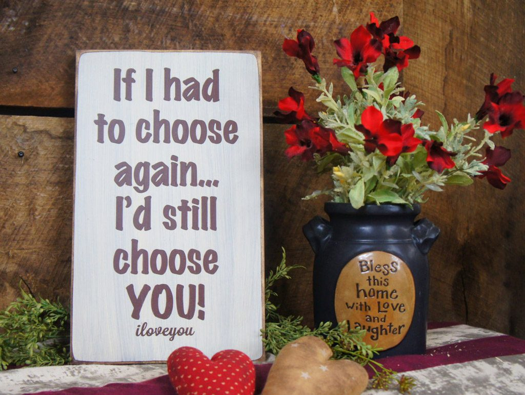 These rustic wood signs and picture frames offer a perfect way to  express your love to your friends, family or special person in your life. l ExpressionsNmore