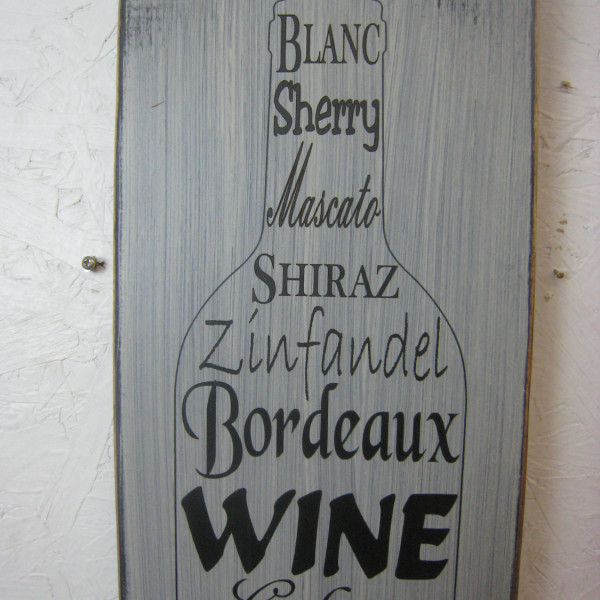 Black/Antique White Wine is Poetry in a Bottle Rustic Sign