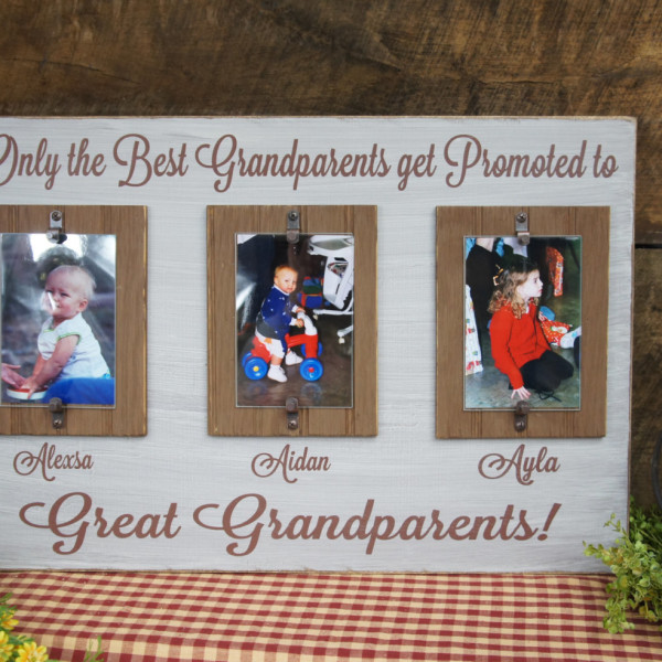 Only the Best Grandparents Get Promoted to Great Grandparents Rustic ...