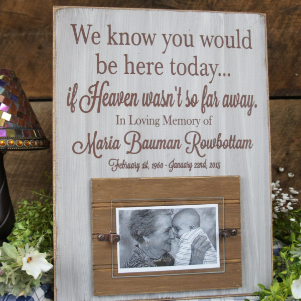 Memorial Picture frame We Know You Would Be Here Today.If Heaven ...