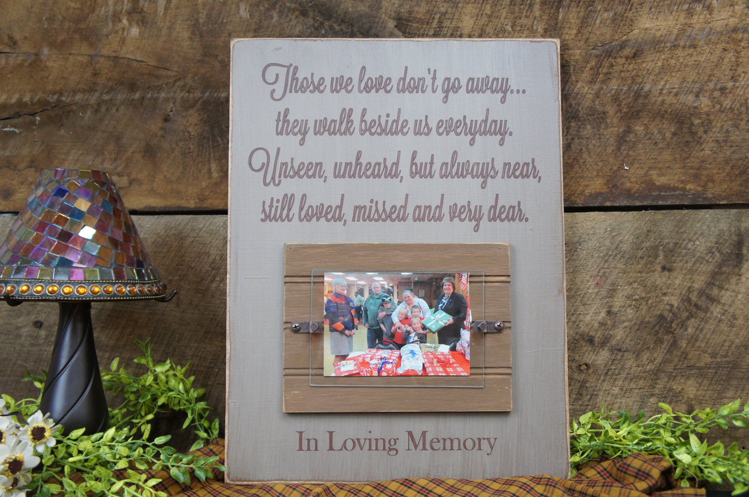 Rustic Memorial Picture Frame Sign Those We Love Don\'t Go Away