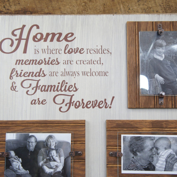Brown/Antique White Home is Where Love Resides Rustic Picture Frame