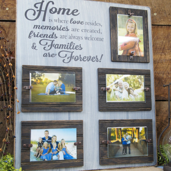 Black/Antique White Home is Where Love Resides Rustic Picture Frame