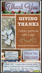 Giving Thanks: Deliver gratitude with a sign