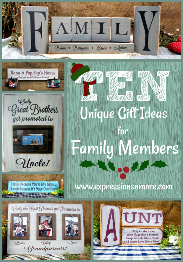 With the holiday season quickly approaching, we've put together ten unique gift ideas for family members that you, and they, are sure to love! l Expressions N more
