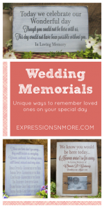 Wedding Memorials: Unique ways to remember loved ones on your special day