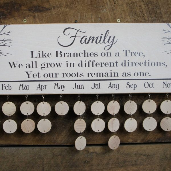 Wooden Family Calendar – Customized just for you