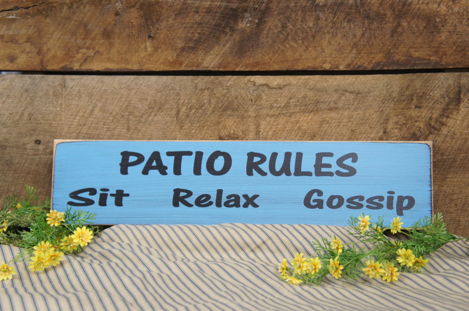 Porch Rules or Patio Rules Sit Relax Gossip Great Sign for your ...