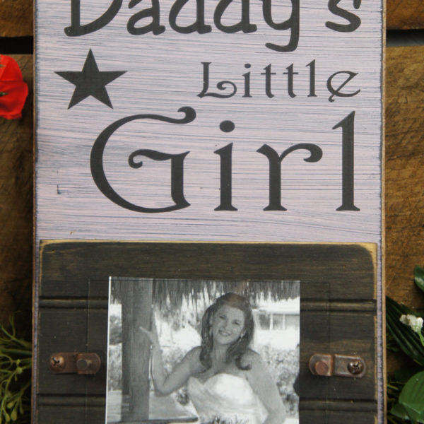 Daddy\'s Little Girl Rustic Style Picture Frame Holds 4x6 photo Has ...