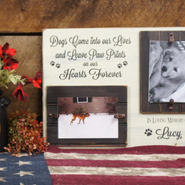 Black/Antique White Memorial Picture Frame Dogs Come Into Our Lives