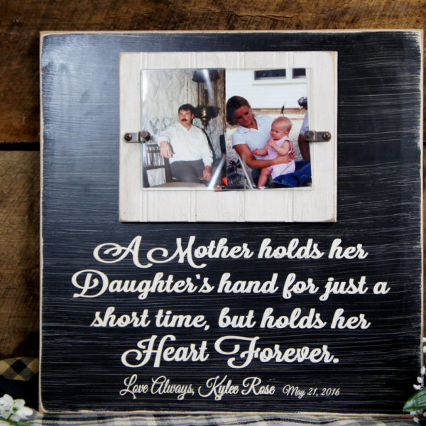 Brides Mom Picture frame A mother holds her Daughter\'s hand just a ...