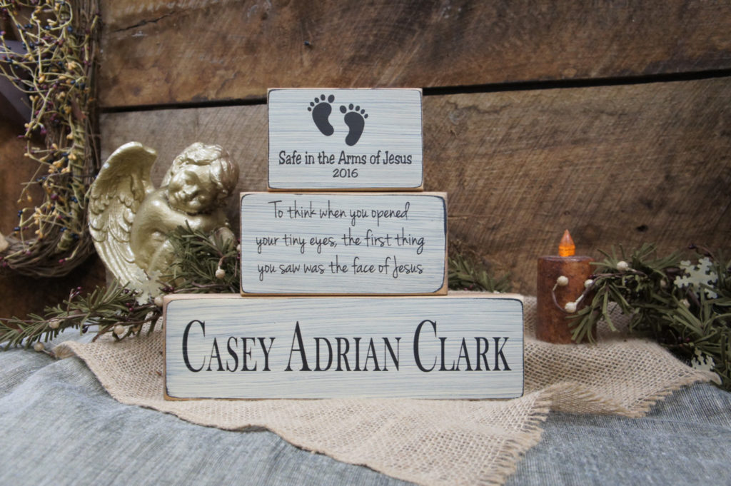 Baby Memorial Block Set- To think when you opened your tiny eyes the first thing you saw…