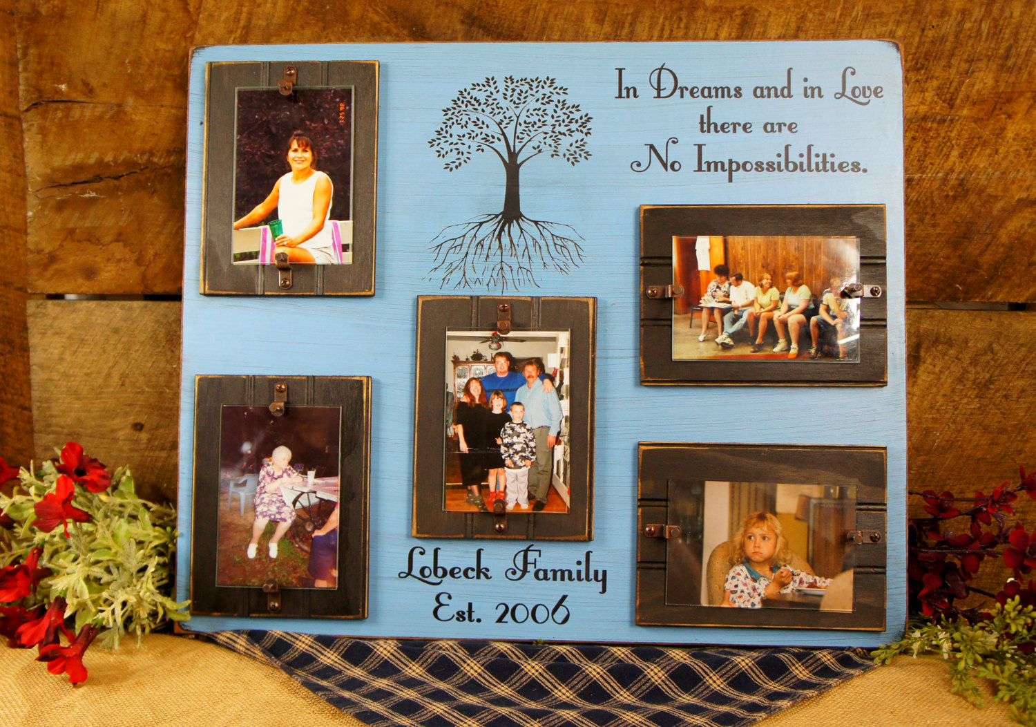 In dreams and in love rustic picture frame expressions n more blacksky blue in dreams and in love rustic picture frame jeuxipadfo Images