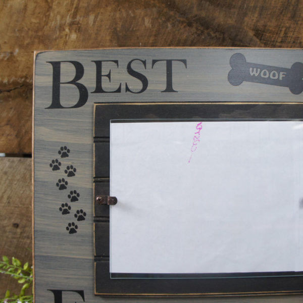 Best Friends Picture / Photo Frame Pawprints add Character Wood ...