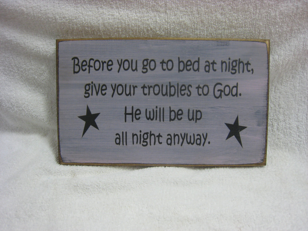 Give Your Troubles to God Rustic Sign
