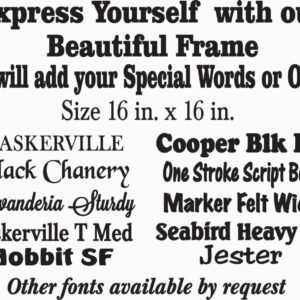 Personalized Custom Frame Express Yourself with one of our Beautiful Frames, we will add yoour words or Ours Holds 2 4x6 photos